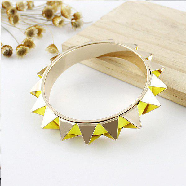 Exaggerated Stud Embellished Alloy Bracelet - AS THE PICTURE