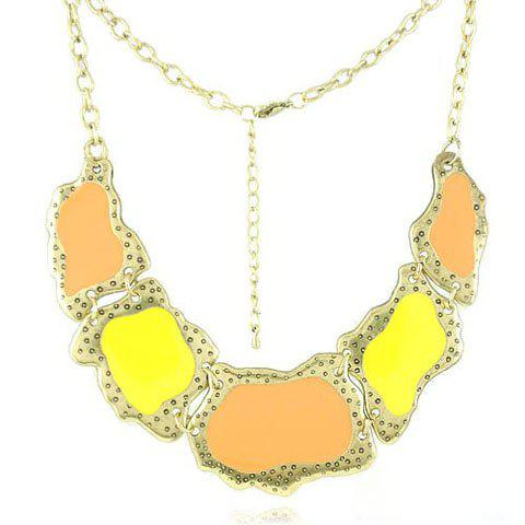 Baroque Chic Style Irregular Geometric Alloy Necklace For Women - COLOR ASSORTED