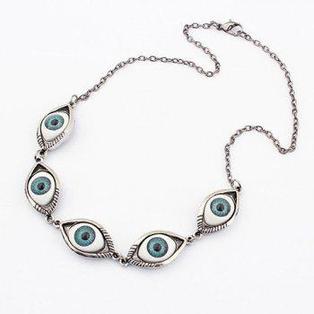 Punk Style Satanic Eye Shape Necklace