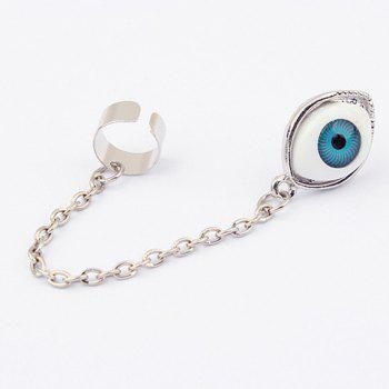 Long Tassel Design Eyeball Shape Alloy Earring