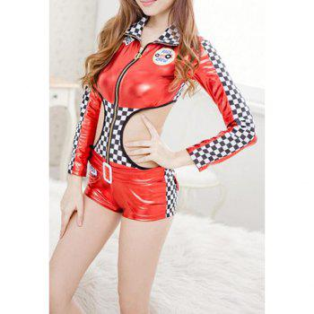 Color Matching Car Show Girl Uniform Cosplay Costume