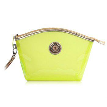 New Arrival Transparent and Zip Design Cosmetic Bag For Women - YELLOW YELLOW