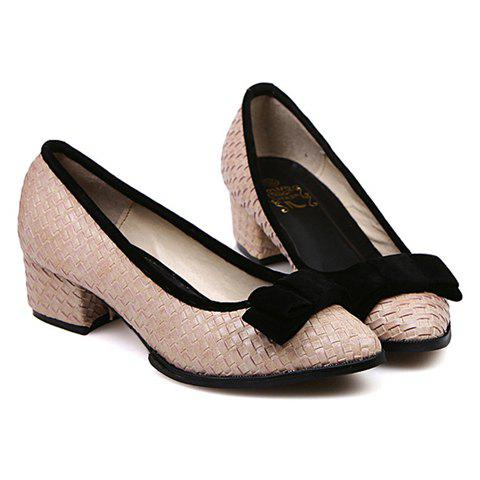 Casual Bow and Pointed Toe Design Women's Pumps - PINK 39