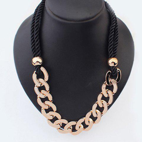 Simple Fashion Thick Chain Pendant Sweater Chain Necklace For Women - AS THE PICTURE