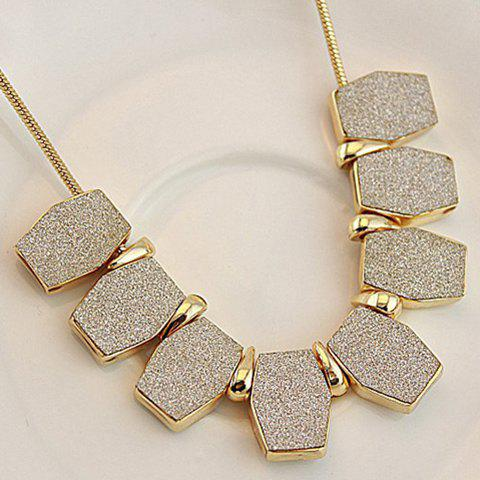 Frosted Geometric Pendant Alloy Necklace - AS THE PICTURE