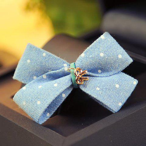 Stylish Bowknot Shape Dot Pattern Decorated Hairpin For Women