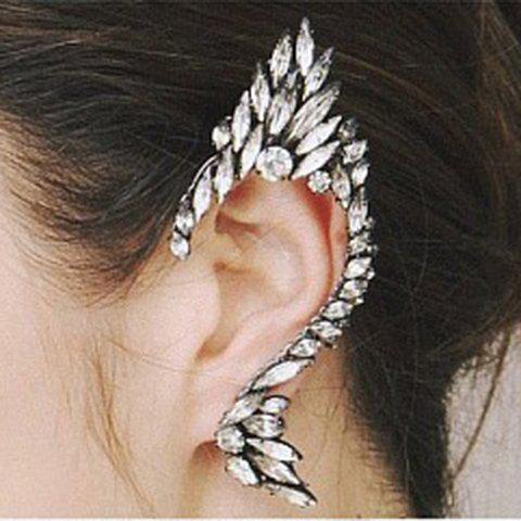 ONE PIECE Exaggerated Hot Sale Rhinestoned Solid Color Clip Earring For Women