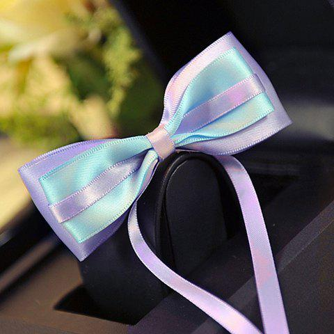 Stylish Ribbon Decorated Colorful Bowknot Shape Hairpin For Women - COLOR ASSORTED