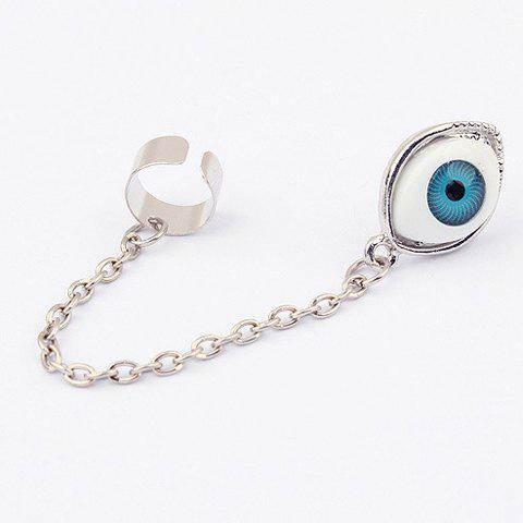 Characteristic Long Tassel Design Eyeball Shape Alloy Earring For Women