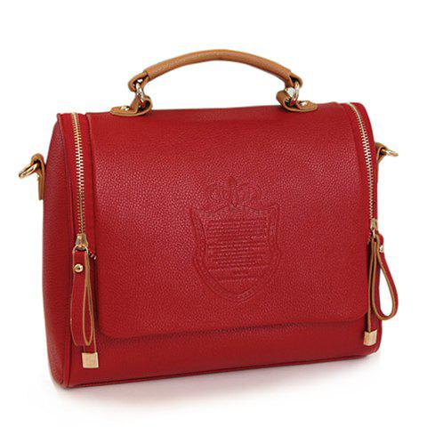 New Arrival Solid Color and Coining Design Tote For Women - RED