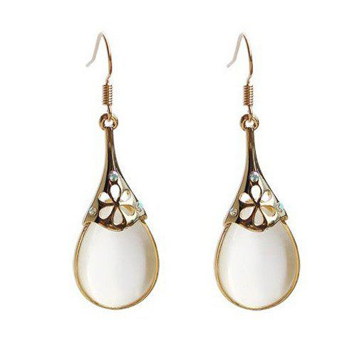 Fake Opal Water Drop Earrings - AS THE PICTURE