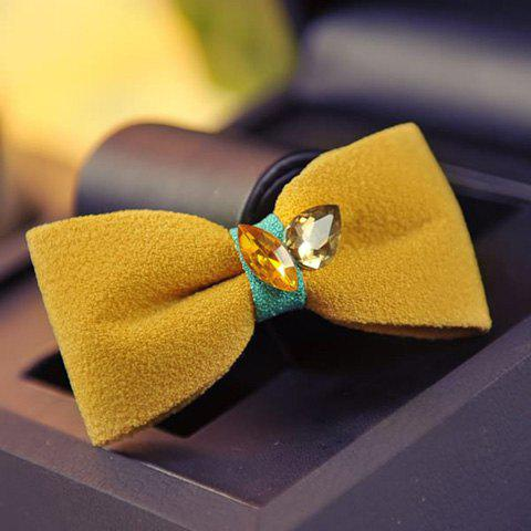 New Rhinestone Embellished Bowknot Shaped Hairpin For Women - EARTHY