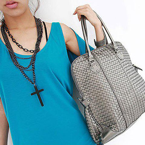 Cross Pendant Multilayer Sweater Chain - AS THE PICTURE