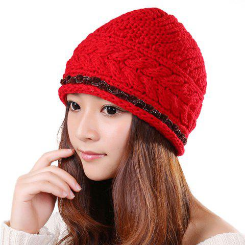 New Solid Color Fringed Knitted Trapper Hat For Women - COLOR ASSORTED