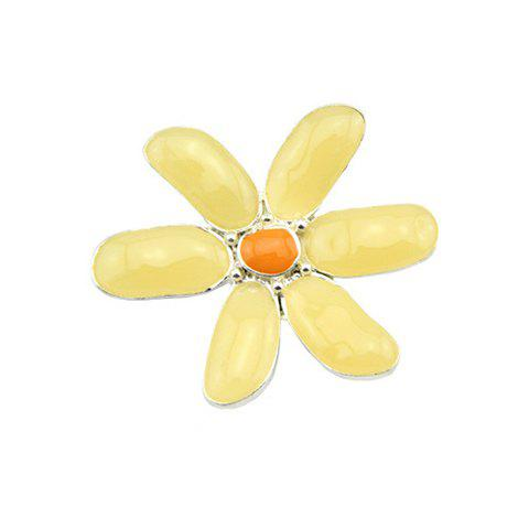 Delicate Style Colored Flower Design Brooch For Women - AS THE PICTURE
