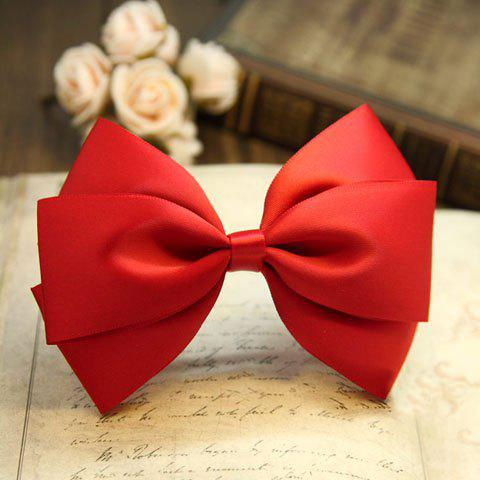 Chic Style Solid Color Ribbon Bowknot Hairpin For Women