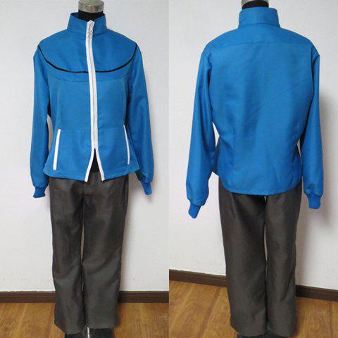 Pokemon Black and White Adults Towuko Blue Worsted Costume(Women)Home<br><br><br>Size: L<br>Color: BLUE