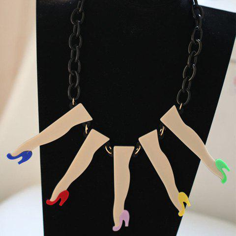 Sweet High Heels and Leg Shape Pendant Necklace - AS THE PICTURE