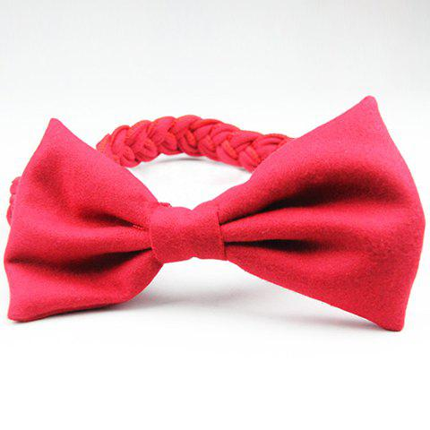 Chic Style Colored Braid Design Bowknot Embellished Hairband - COLOR ASSORTED