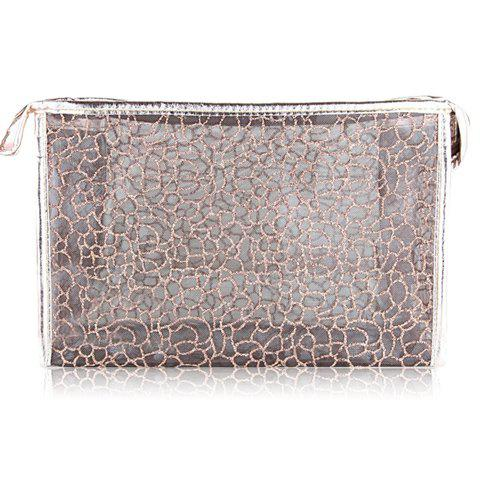 Fashion Style Sparking Glitter and Transparent Design Women's Cosmetic Bag