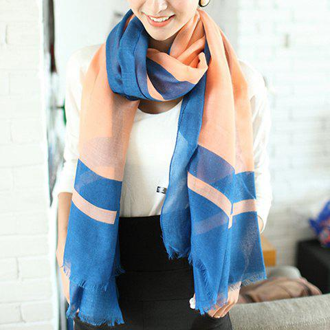 Refreshing Color Matching Scarf - SAPPHIRE BLUE