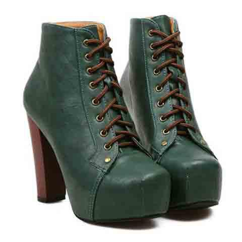 5904bcfe04e Elegant Square Toe and Chunky Heel Design Short Boots For Women - GREEN 38