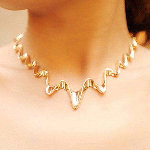 Wavy Alloy Necklace - AS THE PICTURE