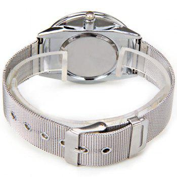 Valentine WoMaGe Quartz Watch with Strips Indicate Steel Watch Band for Couple - Blue -  WHITE