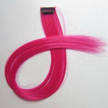 Fashion Style Long Straight Highlight High Temperature Fiber Hair Extension For Women - PEACH RED PEACH RED