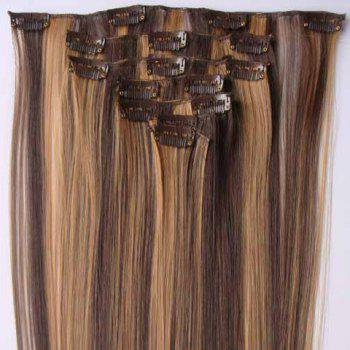 Fashionable Long Straight High Temperature Fiber Hair Extension For Women(P4/27)