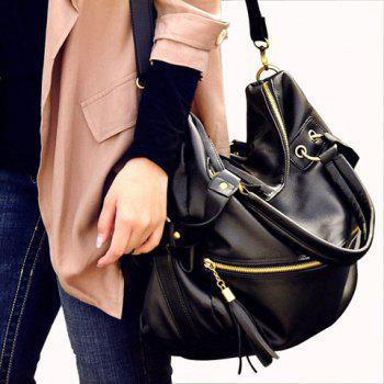 Fashion Tassels and Rivets Design Tote Bag For Women