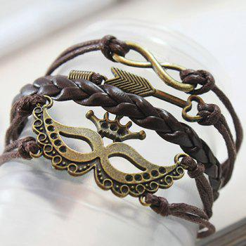 Trendy Punk Mask Crown Arrow Bracelet