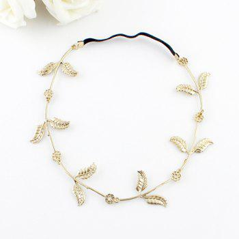 Bohemian Leaf Embellished Hairband For Women