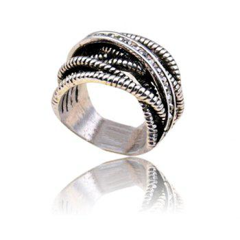 Cross Hollow Out Design Alloy Ring