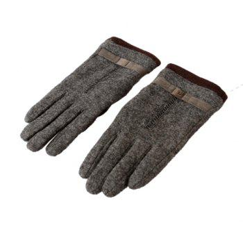 Pair of Stylish Printed Woolen Winter Gloves For Men