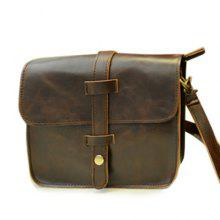 Trendy PU Leather and Solid Color Design Messenger Bag For Men