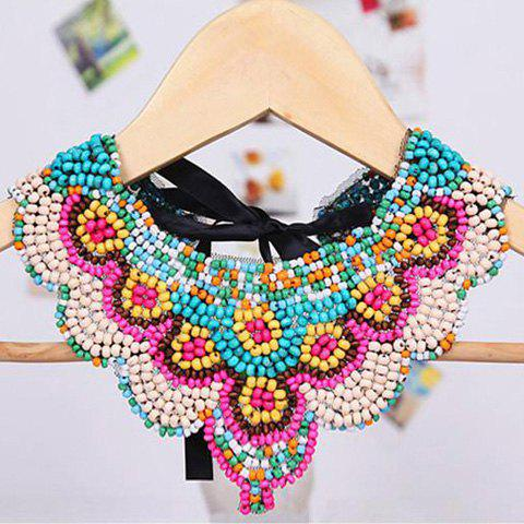 Bohemian Style Tiny Multicolor Beads Design Fake Collar Necklace For Women