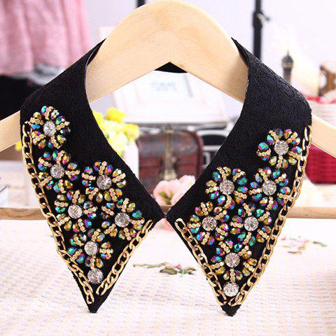 Chic Style Beading Flower Design Fake Collar Necklace - COLOR ASSORTED