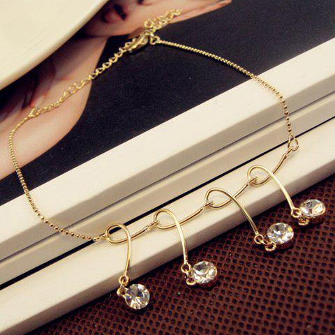 Fashionable Stylish Rhinestone Decorated Anklet For Women -  COLOR ASSORTED