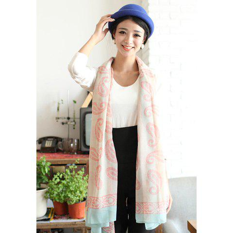 Refreshing Chic Style Paisley Pattern Scarf - PINK