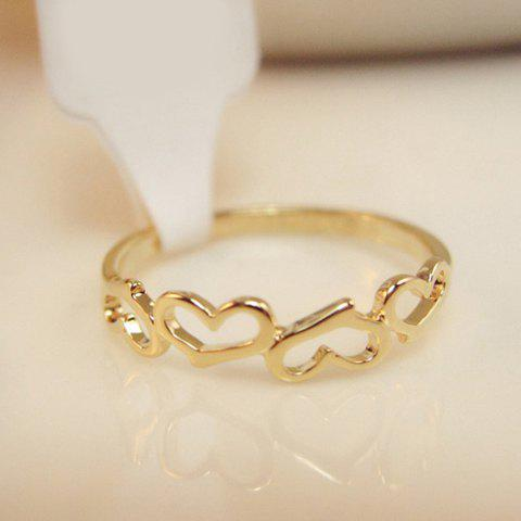 Fashion Hollow Heart Embellished Alloy Ring For Women - COLOR ASSORTED ONE SIZE