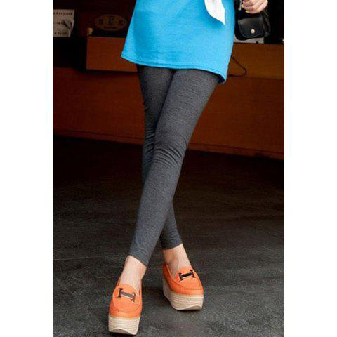 Elastic Waist Narrow Feet Solid Candy Color Stretchy Casual Women's Legging