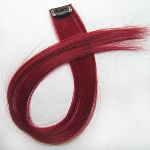 Fashion Style Long Straight Highlight High Temperature Fiber Hair Extension For Women fashion short bobo style high temperature silk highlight straight hair wig wine red