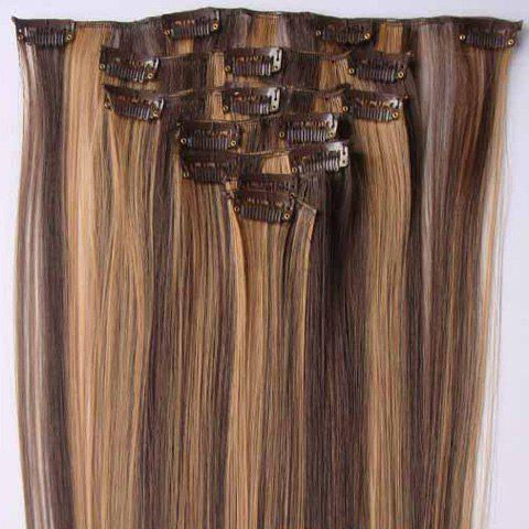 Fashionable Long Straight High Temperature Fiber Hair Extension For Women(P4/27) - COLORMIX