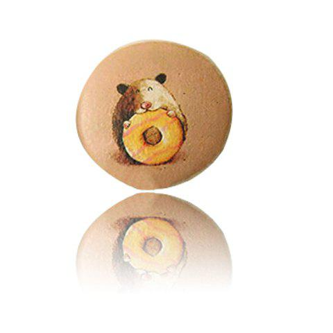 Cute Illustration Little Hamster Pattern Brooch - AS THE PICTURE