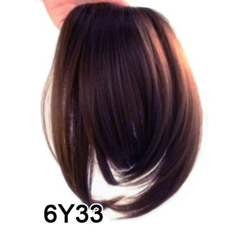 Ladylike Fluffy Straight High Temperature Fiber Women's Side Bang