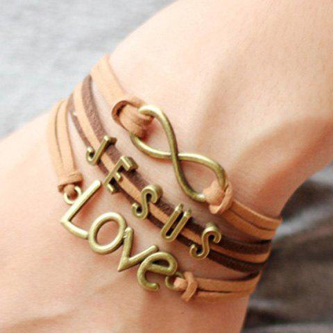 Infinity Handmade Weaved LOVE Bracelet - AS THE PICTURE