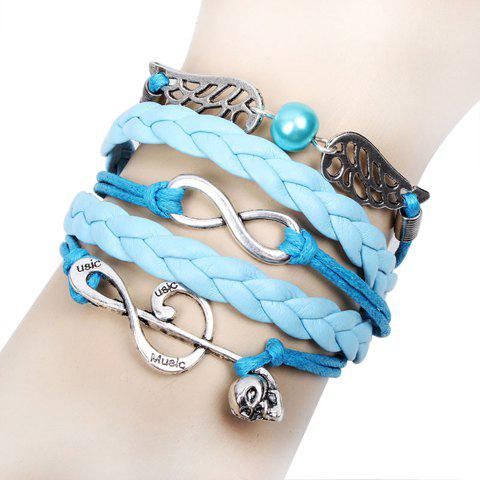 Trendy Vogue Handmade Weaved Beads Note Decorated Bracelet - AS THE PICTURE