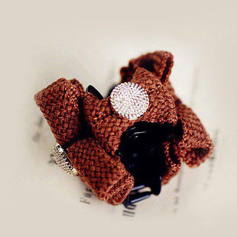 Vivid Colored Bowknot Embellished Hairpin For Women - COFFEE