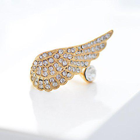 Characteristic Rhinestoned Design Wing Shape Ring